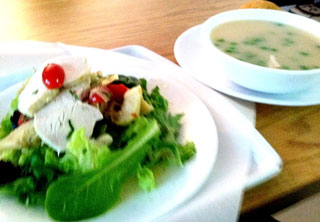 Napa Chicken Salad and Lemon Chicken Soup