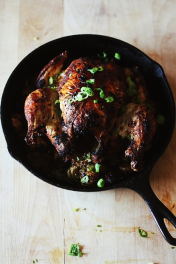 Roasted Garlic Ginger Chicken with Brussels Sprouts