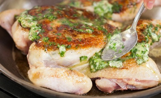I love a good roast chicken recipe, and this looks amazing.