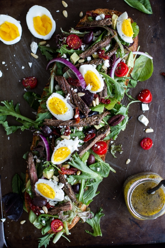Greek-Steak-Salad-French-Bread-with-Soft-Boiled-Eggs-+-Feta-1